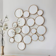 Small Round Mirrors Contemporary Modern Design Large Wall Mirror Gold Venetian for sale online Classic Wall Mirrors, Small Wall Mirrors, Silver Wall Mirror, Rustic Wall Mirrors, Contemporary Wall Mirrors, Entryway Mirror, Round Wall Mirror, Mirror Set, Mirror Bedroom