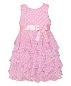 Ice Pink Polka Dot Ruffle Tier Dress - Infant, Toddler & Girls #zulily #zulilyfinds