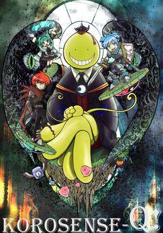 少年ジャンプ本誌での出張版殺せんせーQ!。劇場アニメ化記念Cカラーです。
