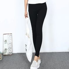 Item Type: LeggingsGender: WomenPattern Type: SolidThickness: StandardWaist Type: HighLength: Ankle-LengthMaterial: PolyFabric Type: SatinModel Number: : yes Fashion Marketing, Slim Pants, Workout Leggings, Leggings Fashion, Lady, Black Jeans, High Waist, Fashion Outfits, Type