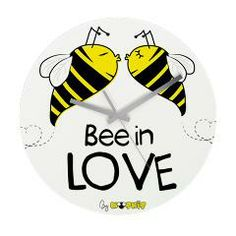 Bee in love clock. Its time to kiss!!  #love #kiss #clock #decor #home #time #bee #cute #love #inlove #beeinlove