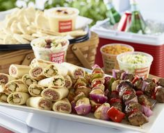 Football season will be in full swing before you know it! The Game Day Goodies Party Pack from Zoës is perfect for any tailgate or watch party. Repin for a chance to win a catered Party Pack for your next event! #tailgating #football #partyfood