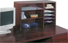 Shop Staples® for Safco® 7-Compartment Wood Desktop Organizer, Mahogany. Enjoy everyday low prices and get everything you need for a home office or business. Get free shipping on orders of $49.99 or greater. Enjoy up to 5% back when you become a