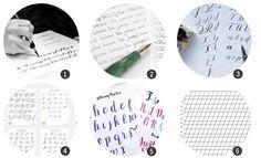 Imprimibles: 12 plantillas para practicar caligrafía o lettering
