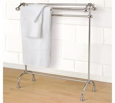 Mercer Towel Stand, Polished Nickel finish $219