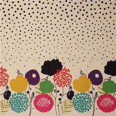 Echino Fabric by Etsuko Furuya cherry  Wild Flower by shimgraphica, $9.00
