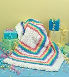 Rainbow Baby Afghan