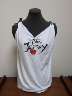 New Jersey Shirt in Upcycled Style by MissStefanie on Etsy, $18.00