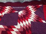 Martha Stewart Star Blaze Full Queen Bed Quilt Purple Red