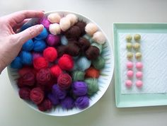 Wet felted beads tutorial