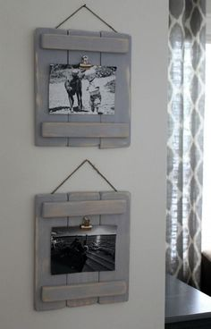 Wood Pallets These DIY pallet plaques are easy to make to display your photos around the home. - These DIY Pallet Plaques are an easy DIY and are a fun alternative to picture frames. just some scrap wood and wood glue are all you need!
