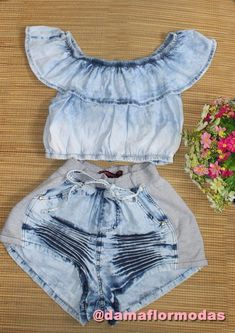 conjunto-ciganinha-jeans-feminino-adulto-short-jeans-266611-MLB20596682961_022016-F.jpg (658×931)