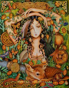 Merry Rune  Goddess Of The Norse Forest por HollySierraArt en Etsy