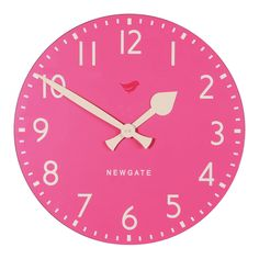 Pink Tock Clock - Home and Garden Design Ideas Pink Love, Pale Pink, Pretty In Pink, Pink White, Hot Pink, Purple, Vintage Pink, Pink Clocks, My Favorite Color