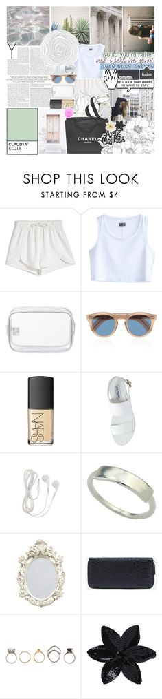 """""""good times for a change"""" by kristen-gregory-sexy-sports-babe ❤ liked on Polyvore featuring Francesco Scognamiglio, Trouvaille, MTWTFSS Weekday, John Lewis, Cutler and Gross, Chanel, NARS Cosmetics, Steve Madden, Iosselliani and ASOS"""