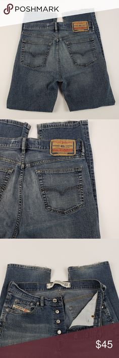 1339d8c0 Diesel Industry Mens Jeans Size 30 Button Fly Diesel Industry Mens Jeans  Size 30 Button Fly. Jeans DieselItaliaBotones