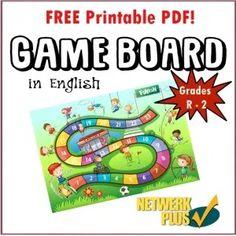 My opstel: Hoe kan ek verbeter? Preschool Games, Free Activities, Free Games, Printable Board Games, Web Address, Activity Sheets, Primary School, Teaching Resources, Free Printables