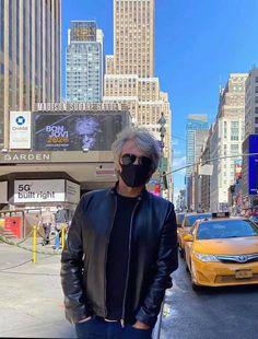 "Jon Bon Jovi's post on IG - October 2, 2020. ""LIVE from New York"", the 2020 album is out now. Credit: JonBonJovi on IG Rock Hudson, Jon Bon Jovi, New York City, Times Square, Tv Shows, Winter Jackets, Celebs, Album, Photo And Video"