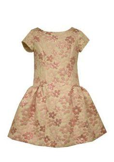 Bonnie Jean Pink Floral Brocade Dress Girls 4-6x
