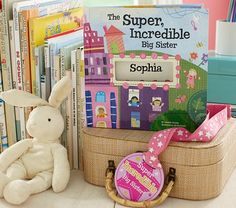 The Incredible Big Sister Book. Make the transition easier for New Big Sisters with these great gifts on: http://blog.gifts.com/gift-guides/5-fun-ideas-for-new-big-sisters