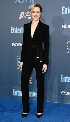 Critics Choice Awards 2016 Best Dressed Stars - Evan Rachel Wood in an Altuzarra suit