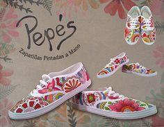 Pepés Zapatillas Pintadas a Mano Modelo Mandala
