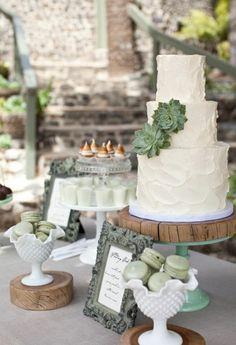 Sage green wedding theme. Beautiful and classy