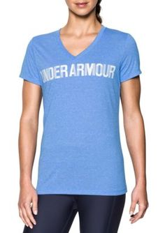 Under Armour Women's Threadborne Short Sleeve Tee - Mako Blue/White - Xl