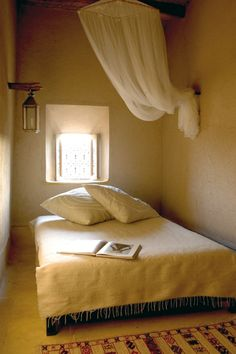 Marrakesh, Morocco: minimalist bedroom.