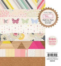 CLEARANCE Notes & Things  Paper Pad 6X6 by MemoryMakinShoppe