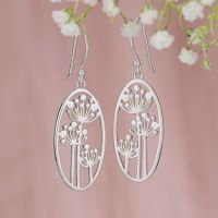 Sterling Wildflower Earrings from NorthStyle - like the nature theme and simplicity