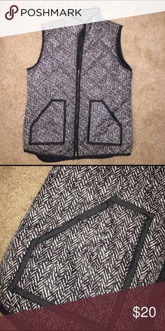 Puffer vest- designer inspired Jcrew inspired vest! Size L Jackets & Coats Vests
