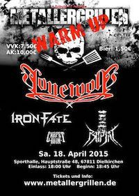 Lineup: Lonewolf, Iron Fate, Pripjat, Carpet Room
