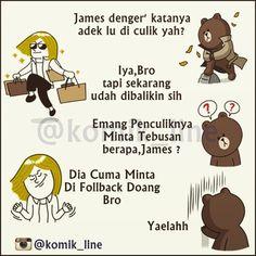 """@komik_line's photo: """"Cuma minta di follback sih :D nyiahaha gaes  #komik_line"""""""