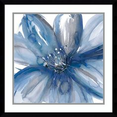 "Amanti Art Blue Beauty I Floral 23"" Square Framed Art Print"