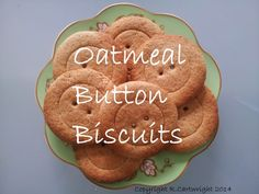 Craft with Ruth Cartwright: Oatmeal Button Biscuits recipe.