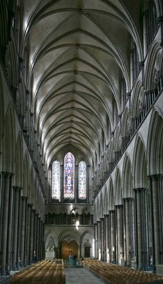 Salisbury Cathedral nave  © Marsha K. Russell
