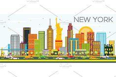#New #York #Skyline by Igor Sorokin on @creativemarket