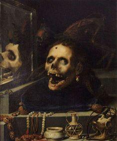 Momento Mori ~ Natura Morta Macabra, 1604 ~ by Jacopo Ligozzi cool pic of my chillin Memento Mori, Arte Horror, Horror Art, Art Sinistre, Baroque Sculpture, Dance Of Death, Esoteric Art, Danse Macabre, Macabre Art