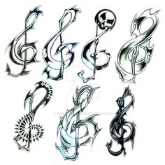 This are some clefs I made to please a colleague..Unfortunately he never came into position to see one of these. Later one of them was used to the logo of '..hard?!' - Radioshow. So at le...