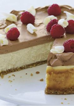 PHILADELPHIA Chocolate Mousse Cheesecake – This mousse dessert doubles down on the chocolatey goodness: it's a white chocolate cheesecake with a milk chocolate mousse topping.