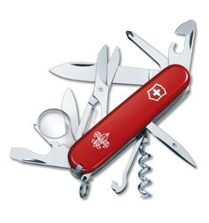 Victorinox Swiss Army Explorer Boy Scout Pocket Knife (Red)