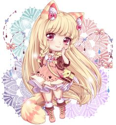 *NEW: SPEED PAINT: youtu.be/S_ouzKxqPCc Hello lovely people!!~~ This is my Chibi Commission for , She is so good person and I try to do my best for her, We know each other recently but is as if we ...