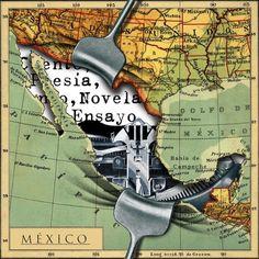 Covers literary Atlas by Fernando Vicente, via Behance
