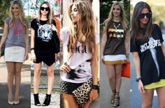 Invista em looks com t-shirts! - Blog Toda Fútil