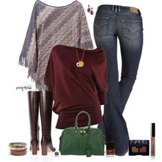 Love, love, love this outfit! It would really let my inner hippie hang out! (I would wear big gold hoop earrings!)