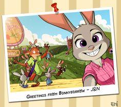 http://tokio92.deviantart.com/art/Greetings-From-Bunnyburrow-626848443