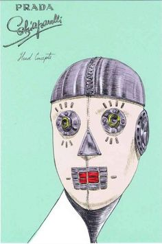 Schiaparelli and Prada Impossible Conversations Postcards designed by Guido Palau and Miguel Villalobos