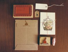 Terrarium Postcards (and gorgeous packaging) - Quill & Fox