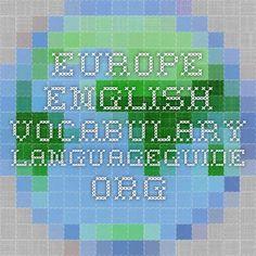 Europe - English Vocabulary - IWB activity.
